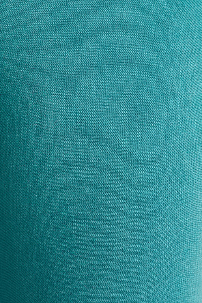 Enkellange broek met ritsen in de zoom, TEAL GREEN, detail image number 4