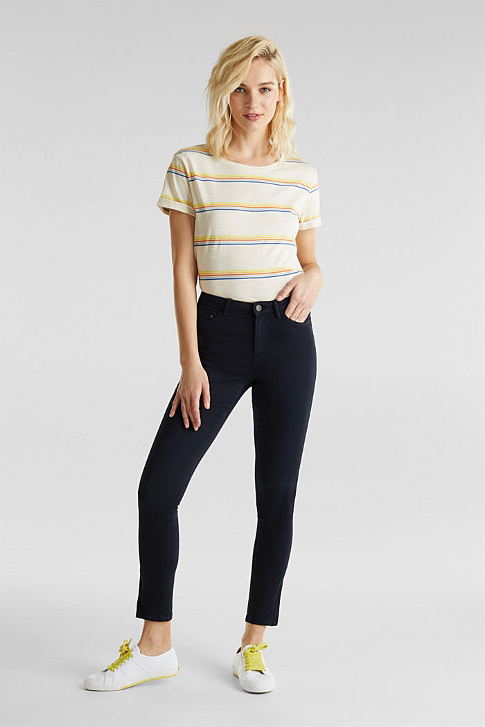 Ankle-length trousers with hem zips, NAVY, detail image number 1