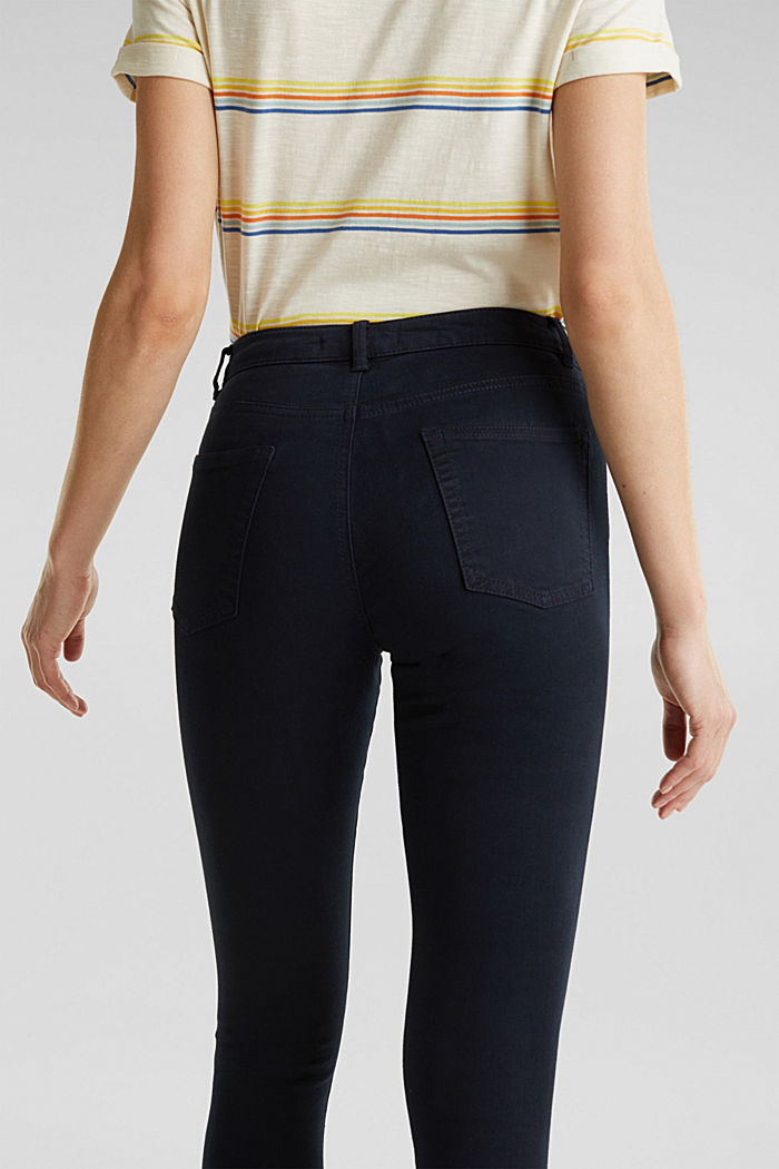 Ankle-length trousers with hem zips, NAVY, detail image number 5