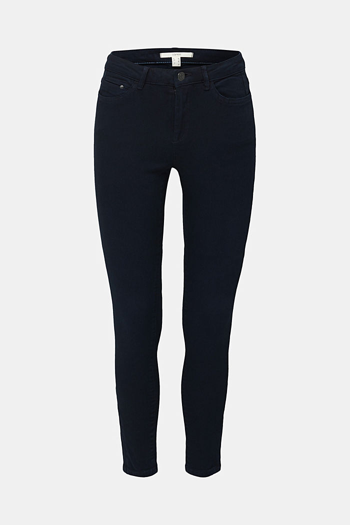 Ankle-length trousers with hem zips, NAVY, detail image number 6