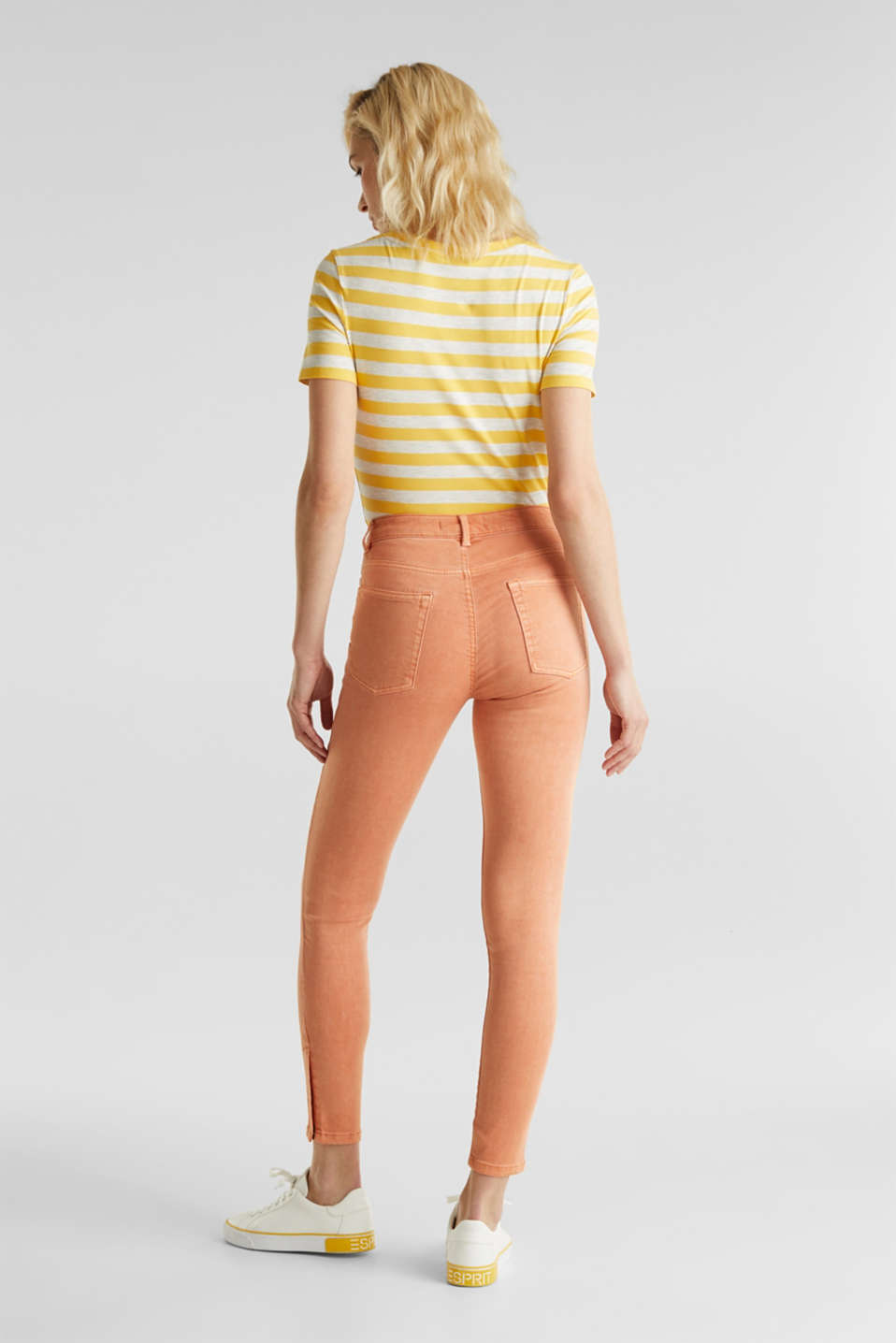 Ankle-length trousers with hem zips, RUST ORANGE, detail image number 3
