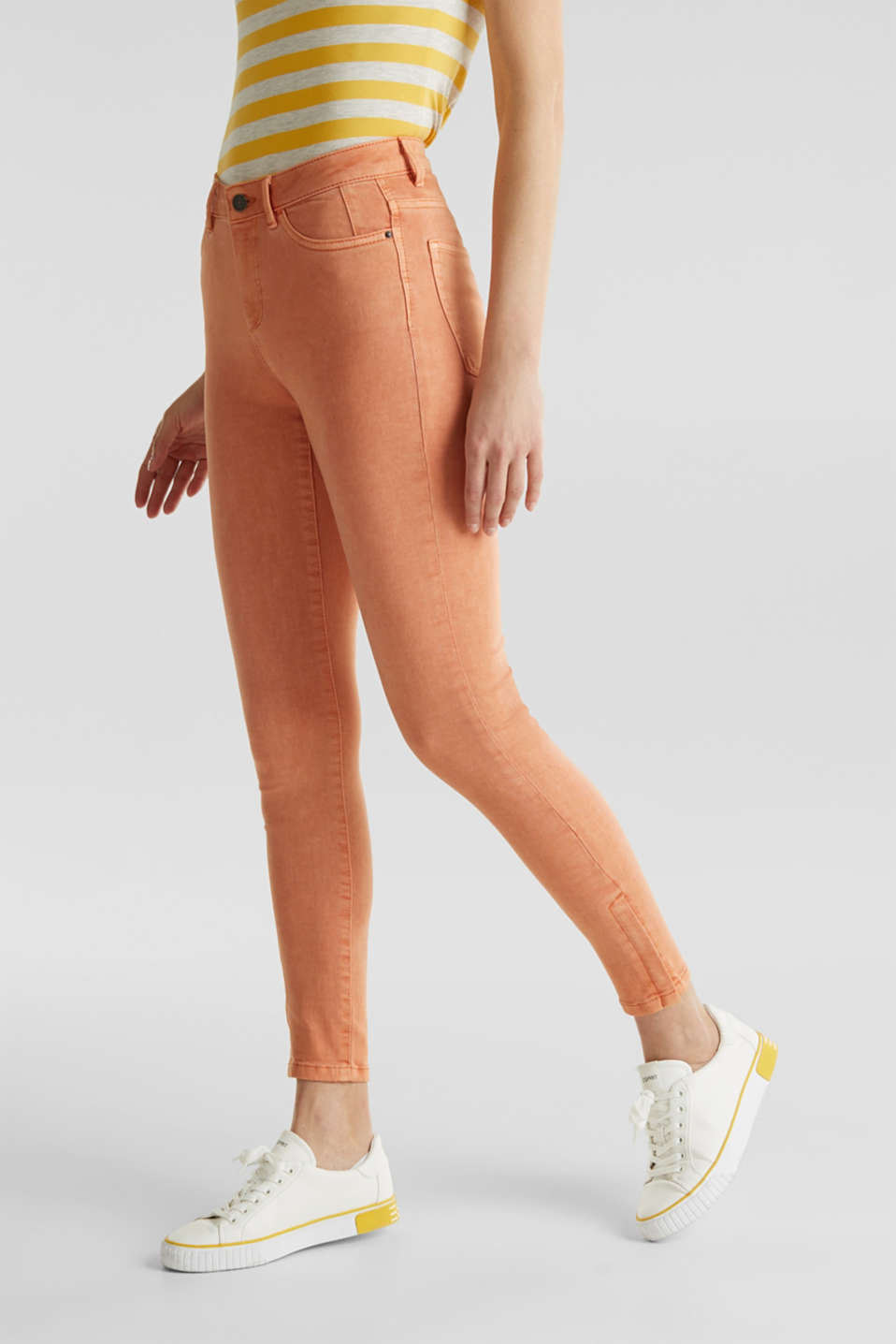 Ankle-length trousers with hem zips, RUST ORANGE, detail image number 6