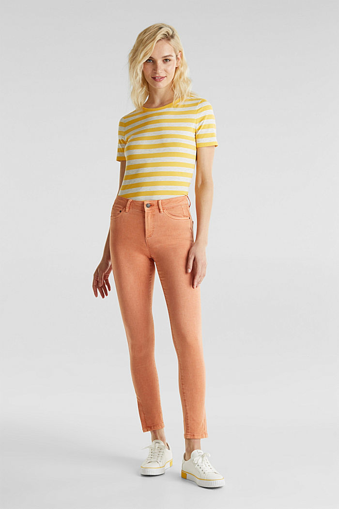 Ankle-length trousers with hem zips, RUST ORANGE, detail image number 1