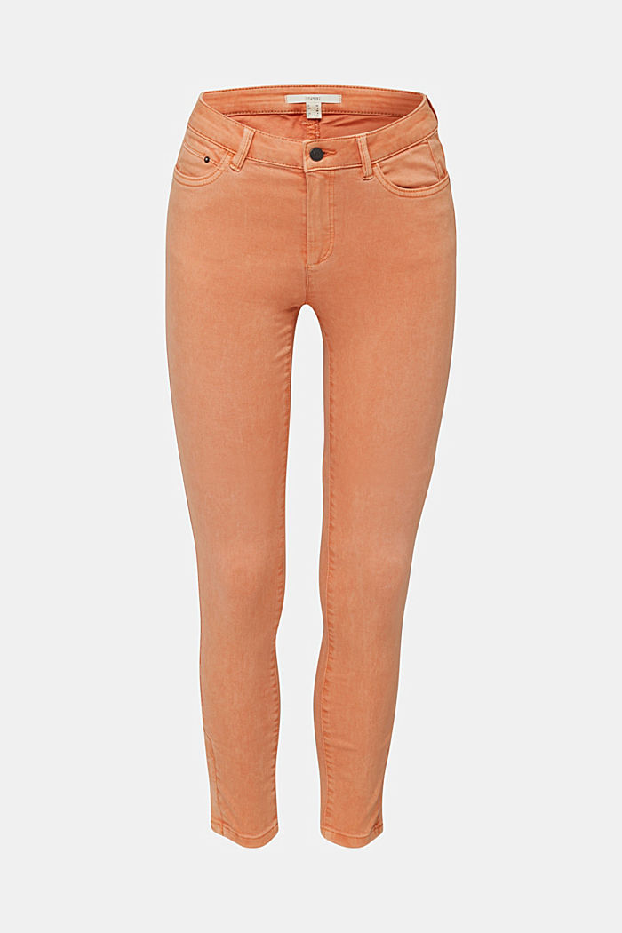 Ankle-length trousers with hem zips, RUST ORANGE, detail image number 7