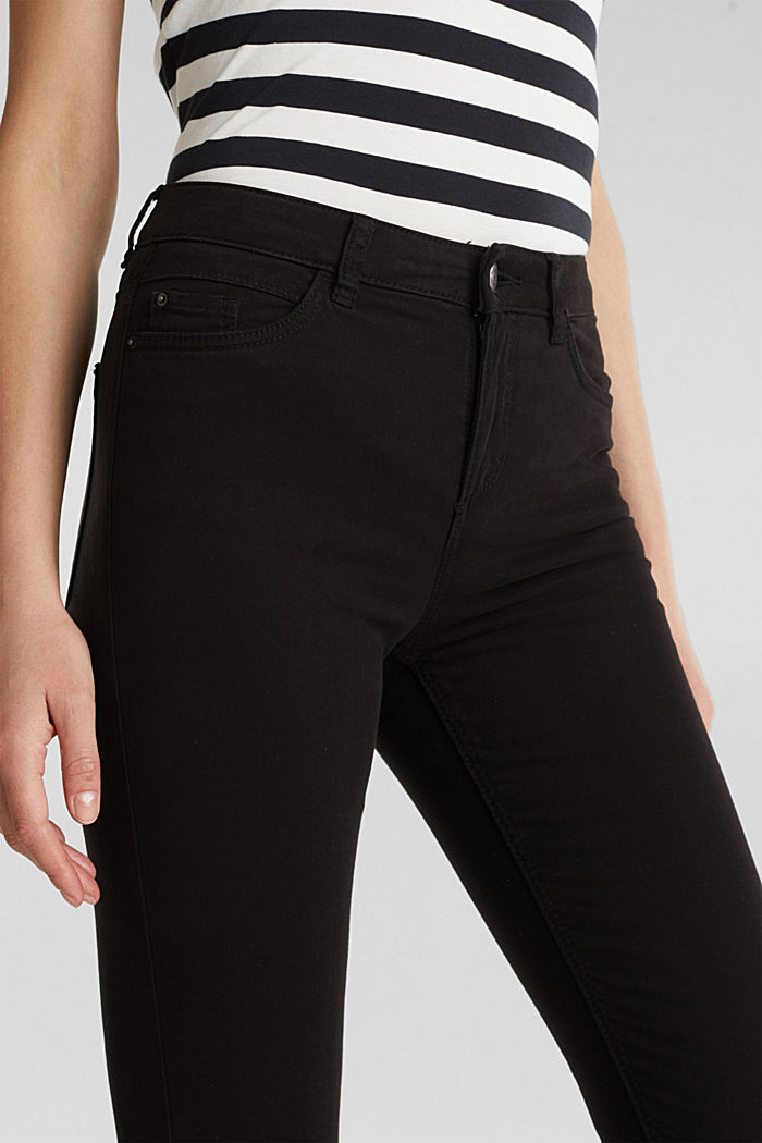 Soft Capri trousers with Lycra® xtra life™, BLACK, detail image number 2