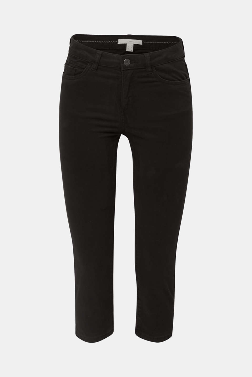 Soft Capri trousers with Lycra® xtra life™, BLACK, detail image number 7