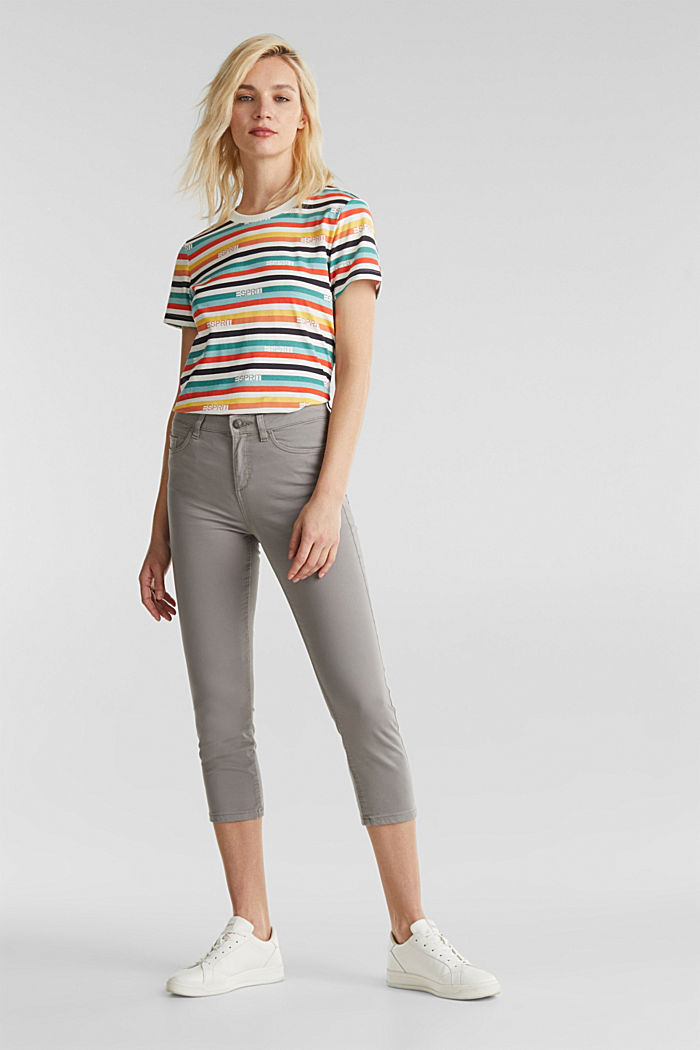 Soft Capri trousers with Lycra® xtra life™, LIGHT GREY, detail image number 0