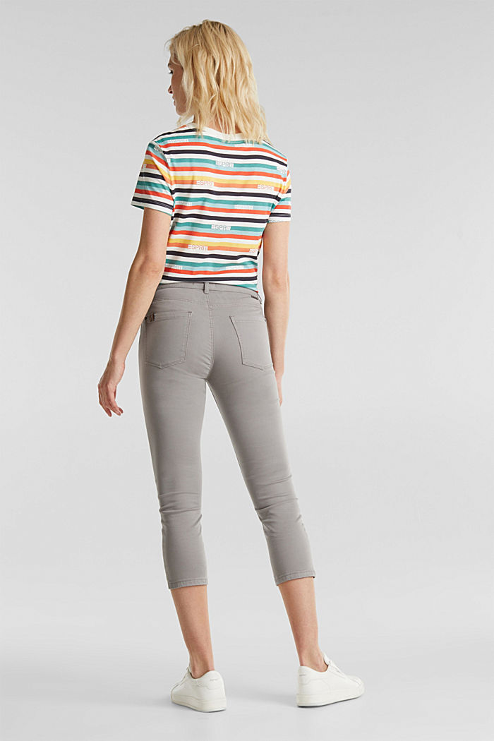 Soft Capri trousers with Lycra® xtra life™, LIGHT GREY, detail image number 3