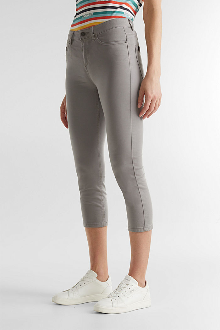 Soft Capri trousers with Lycra® xtra life™, LIGHT GREY, detail image number 6
