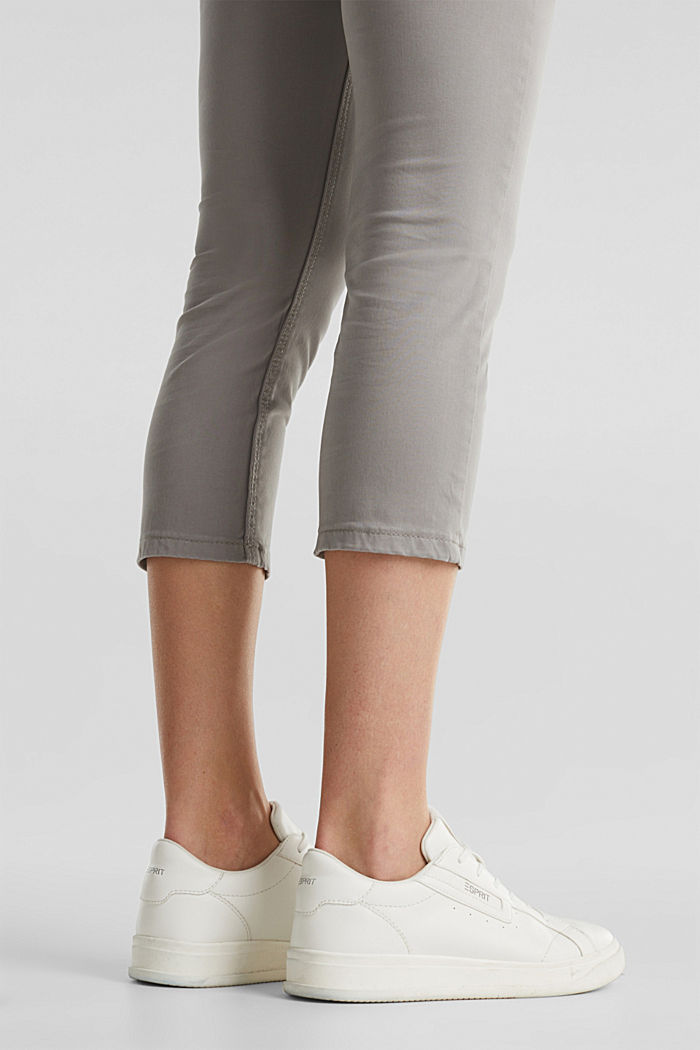 Soft Capri trousers with Lycra® xtra life™, LIGHT GREY, detail image number 5