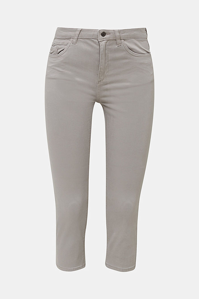 Soft Capri trousers with Lycra® xtra life™, LIGHT GREY, detail image number 7