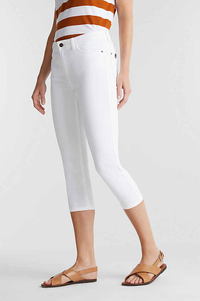 Soft Capri trousers with Lycra® xtra life™, WHITE, detail image number 0