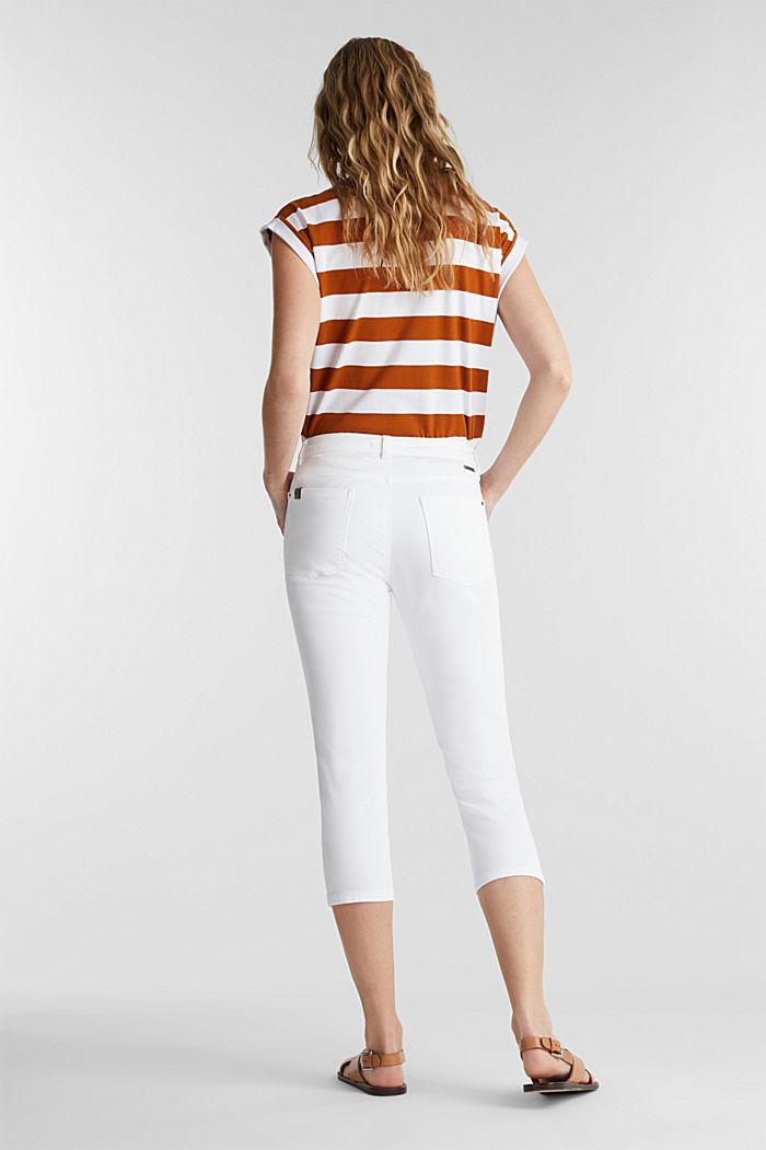 Pantalon doux de longueur corsaire à teneur en lycra xtra life™, WHITE, detail image number 3