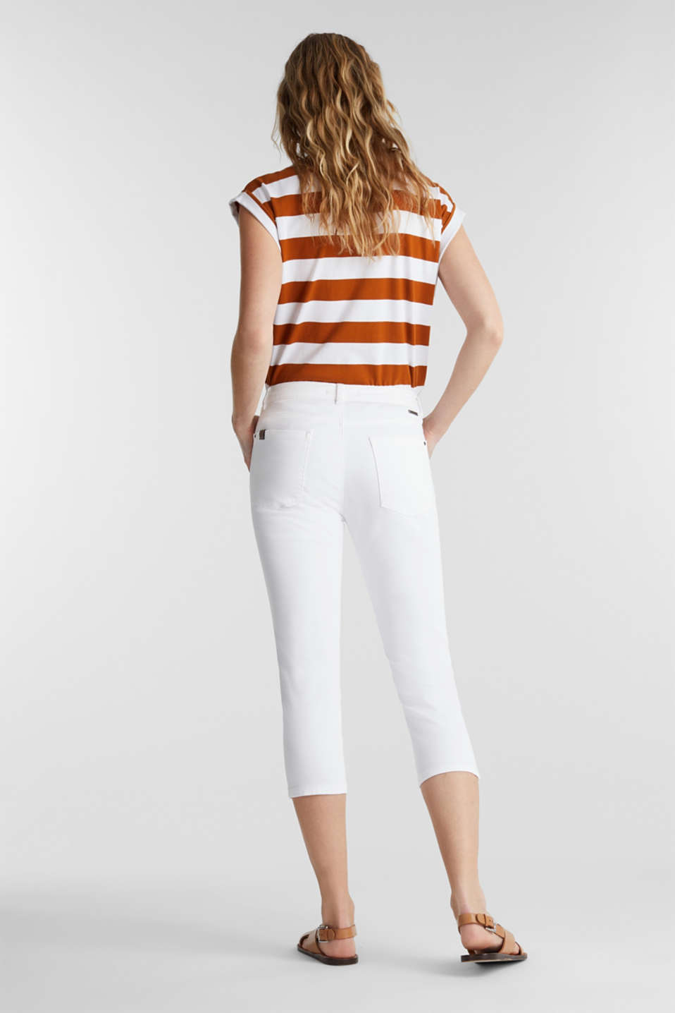Soft Capri trousers with Lycra® xtra life™, WHITE, detail image number 3