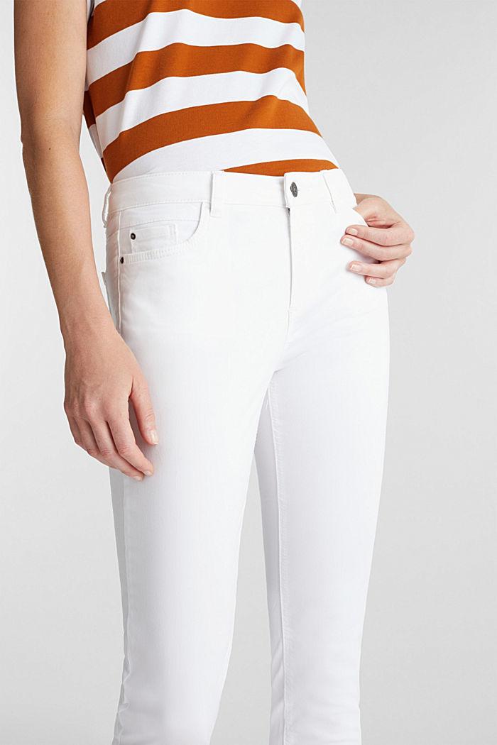 Pantalon doux de longueur corsaire à teneur en lycra xtra life™, WHITE, detail image number 2