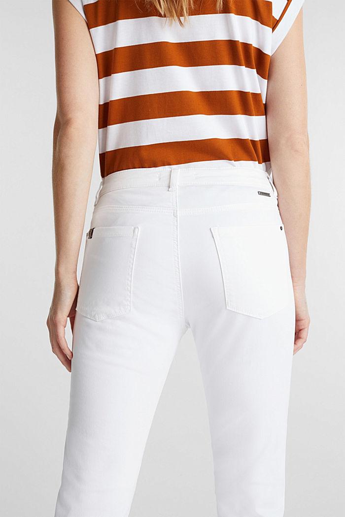 Pantalon doux de longueur corsaire à teneur en lycra xtra life™, WHITE, detail image number 5