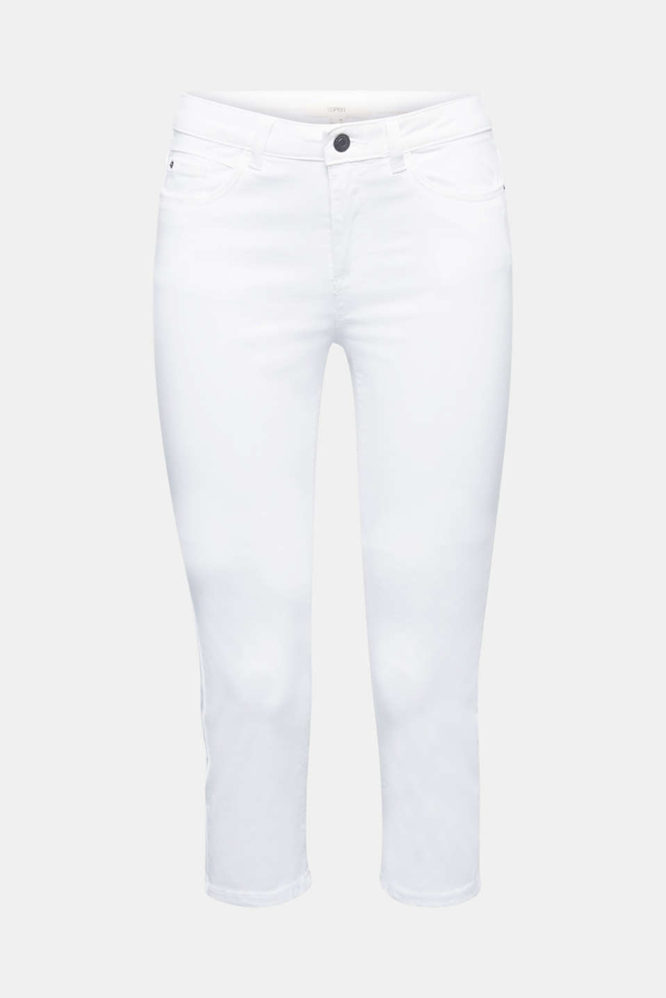 Soft Capri trousers with Lycra® xtra life™, WHITE, detail image number 7