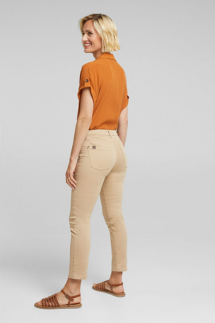 Soft Capri trousers with Lycra® xtra life™, BEIGE, detail image number 3