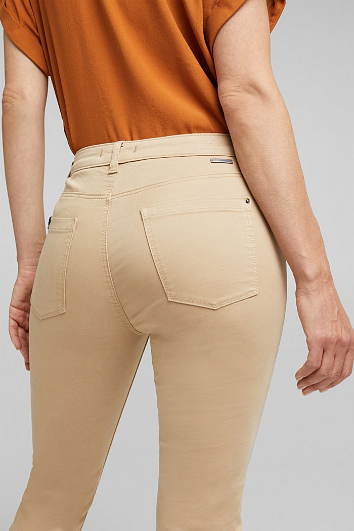 Soft Capri trousers with Lycra® xtra life™, BEIGE, detail image number 2