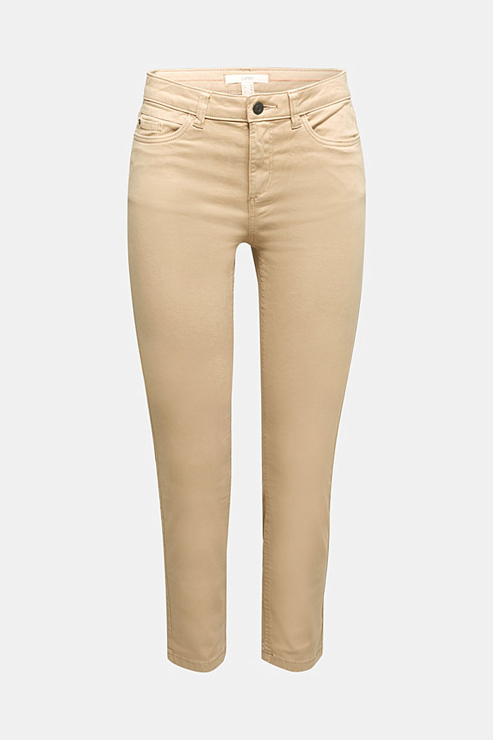 Soft Capri trousers with Lycra® xtra life™, BEIGE, detail image number 6
