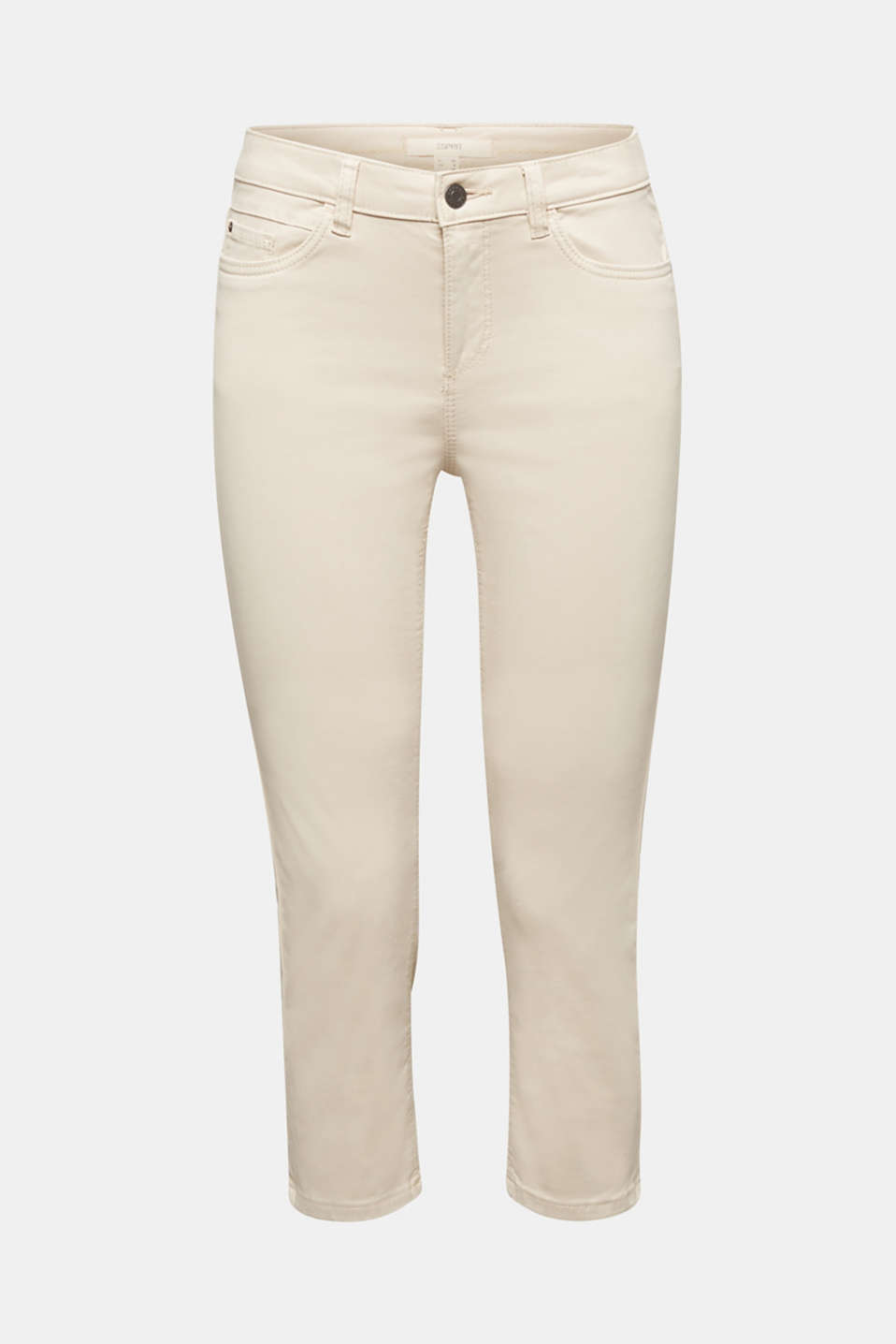 Soft Capri trousers with Lycra® xtra life™, LIGHT BEIGE, detail image number 6