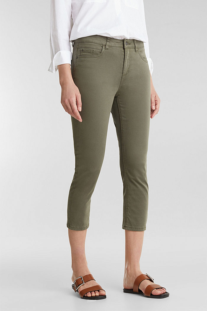 Soft Capri trousers with Lycra® xtra life™, KHAKI GREEN, detail image number 6