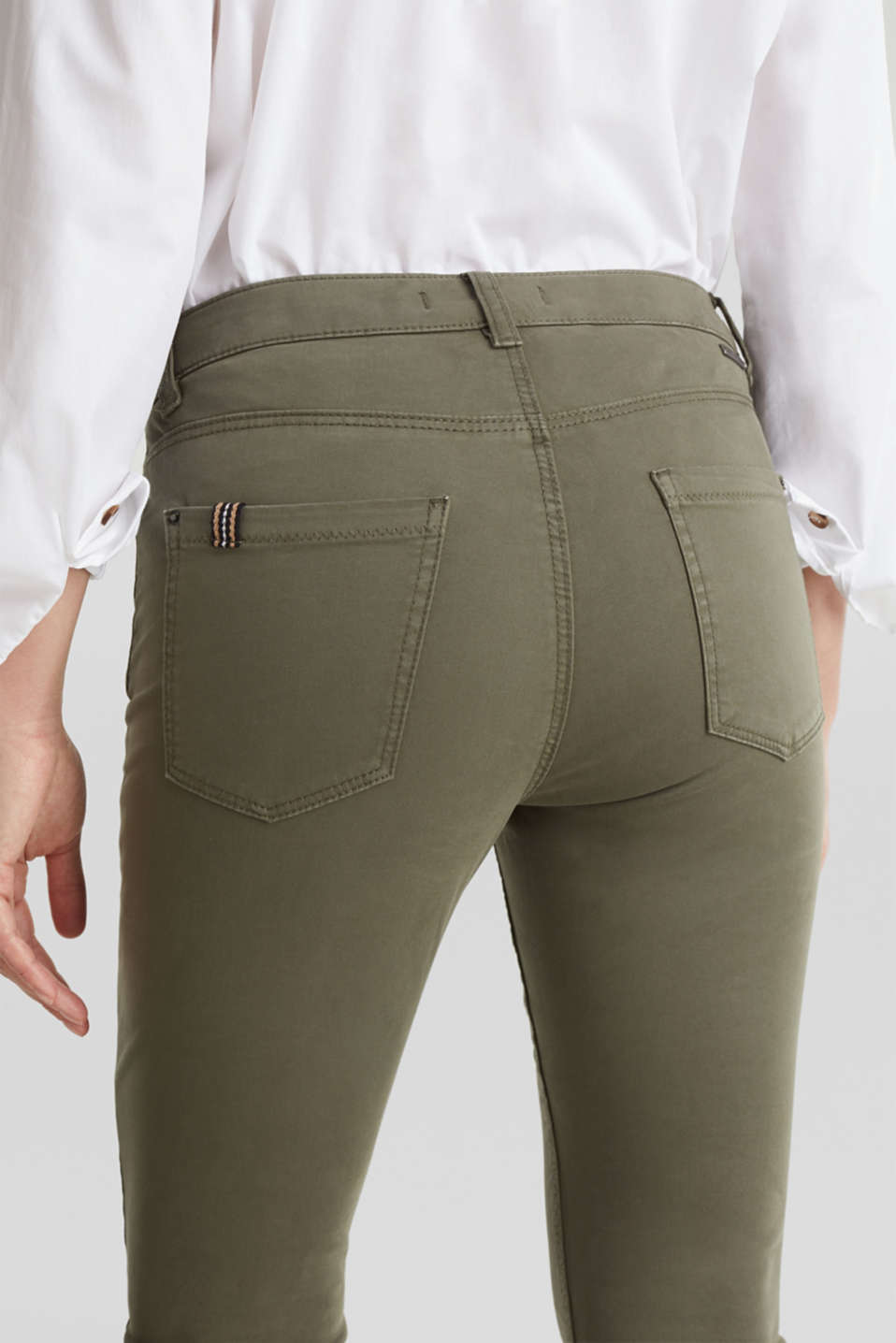 Soft Capri trousers with Lycra® xtra life™, KHAKI GREEN, detail image number 5