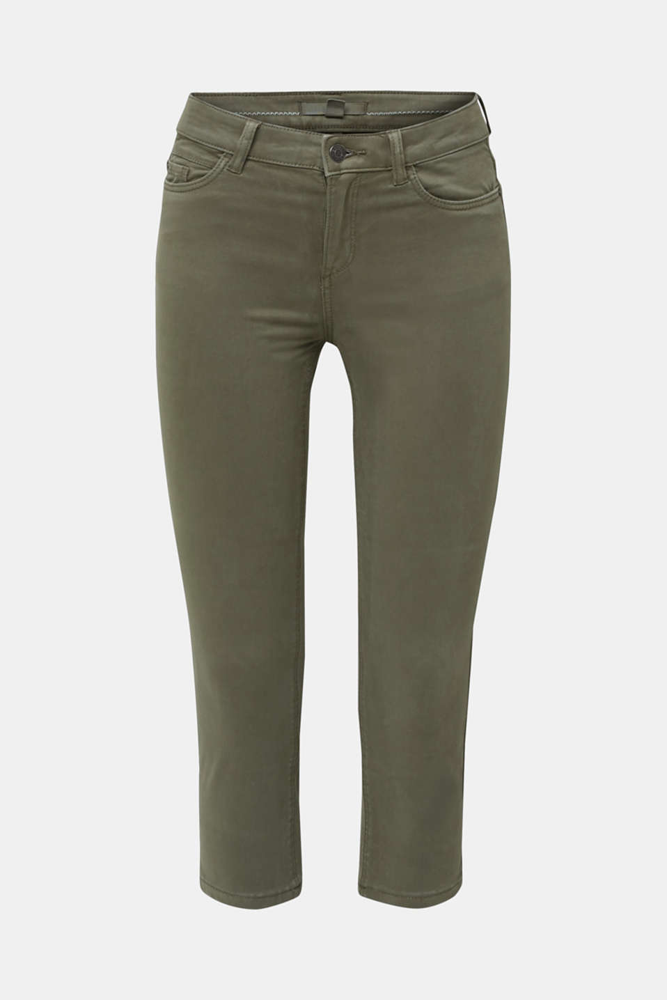 Soft Capri trousers with Lycra® xtra life™, KHAKI GREEN, detail image number 7