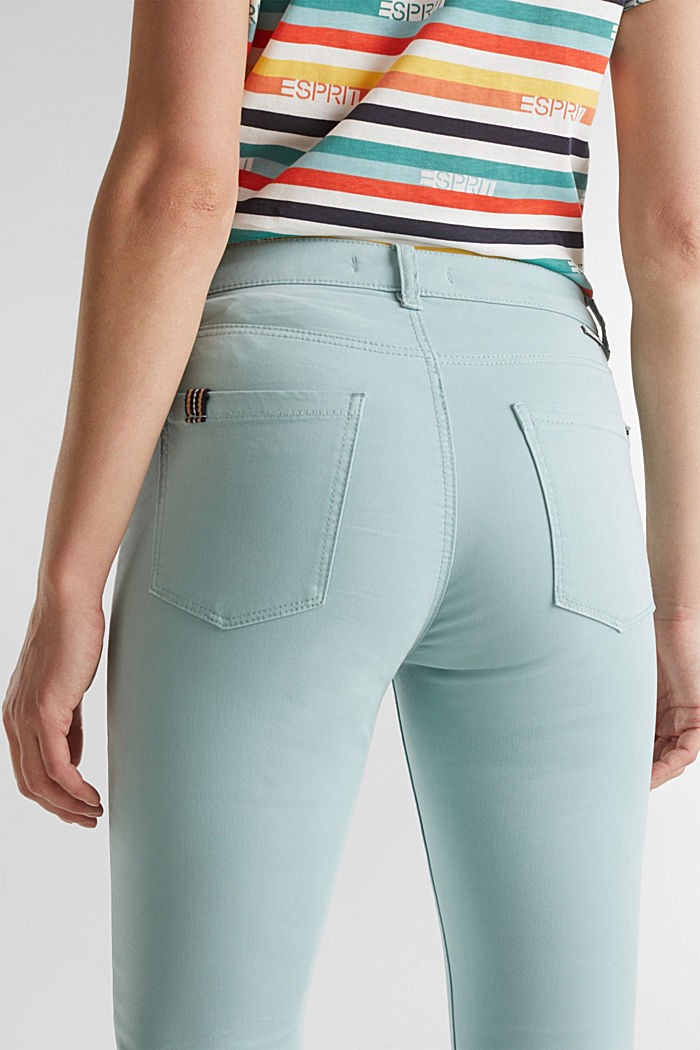 Soft Capri trousers with Lycra® xtra life™, LIGHT AQUA GREEN, detail image number 5