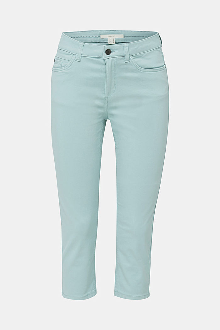 Soft Capri trousers with Lycra® xtra life™, LIGHT AQUA GREEN, detail image number 6