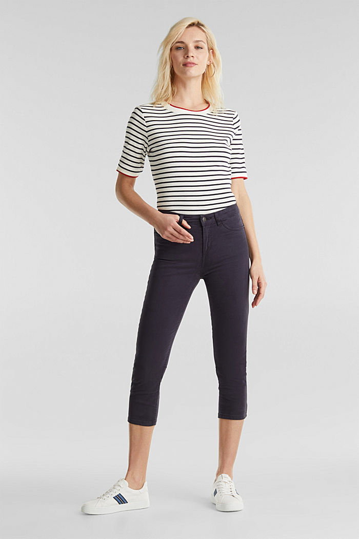 Soft Capri trousers with Lycra® xtra life™, NAVY, detail image number 0
