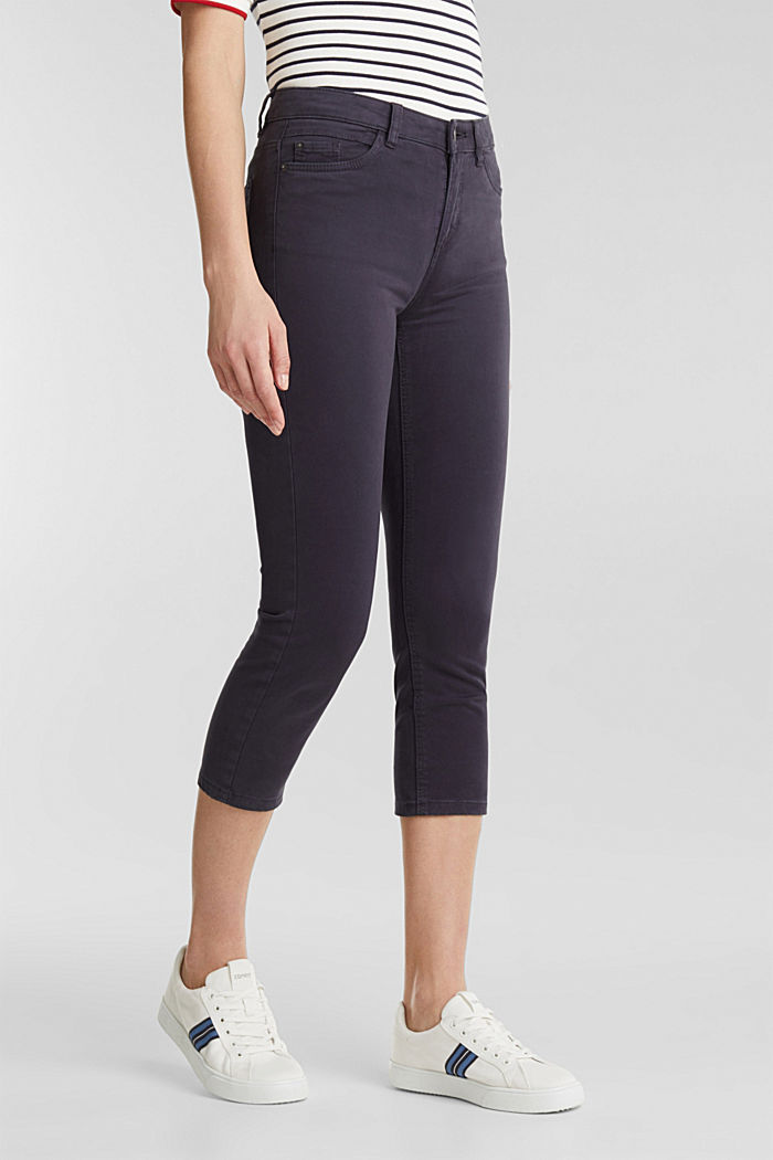 Soft Capri trousers with Lycra® xtra life™, NAVY, detail image number 6