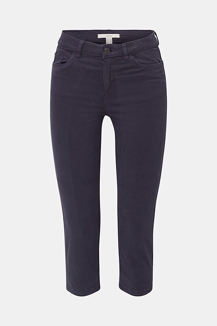 Soft Capri trousers with Lycra® xtra life™, NAVY, detail image number 7