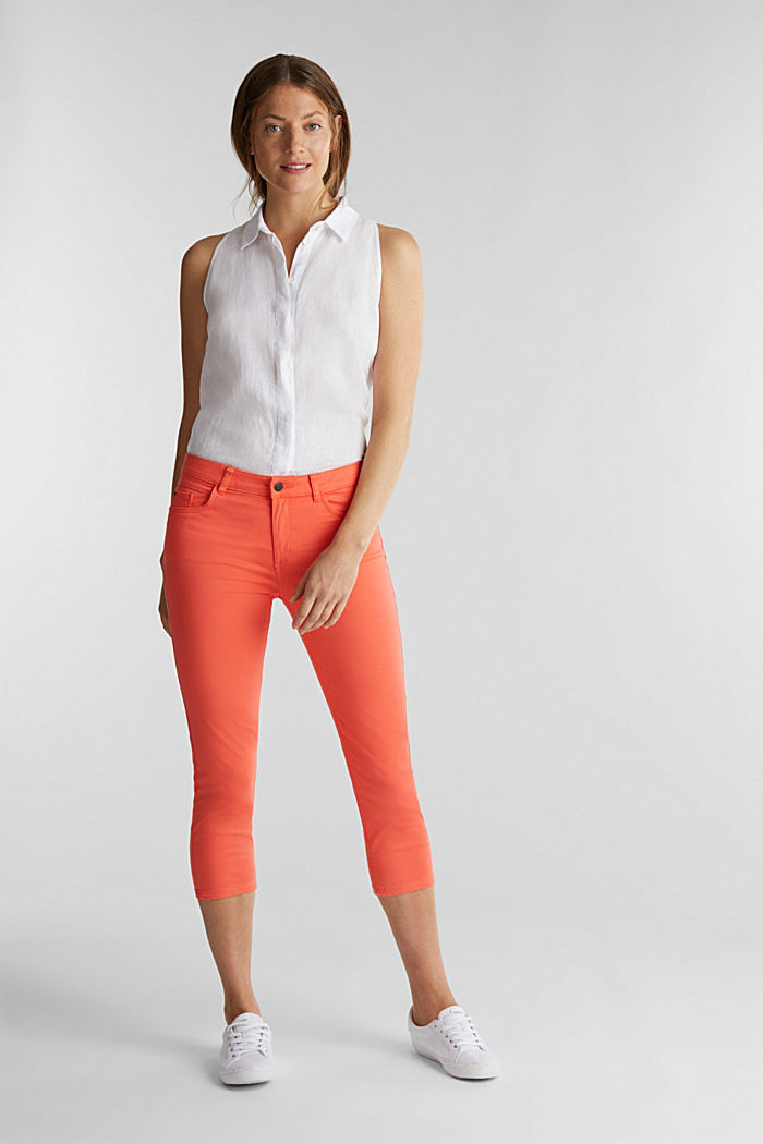 Soft Capri trousers with Lycra® xtra life™, CORAL, detail image number 0