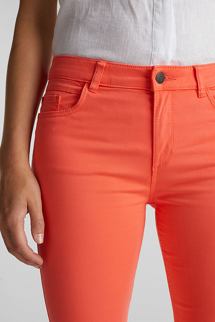 Soft Capri trousers with Lycra® xtra life™, CORAL, detail image number 1