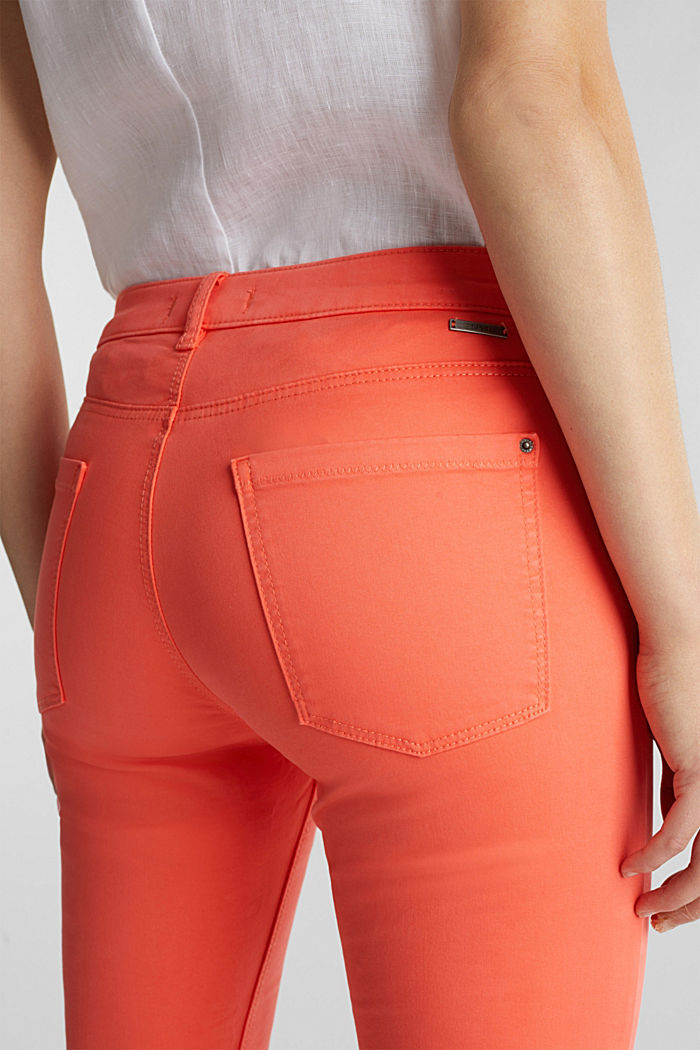 Soft Capri trousers with Lycra® xtra life™, CORAL, detail image number 4