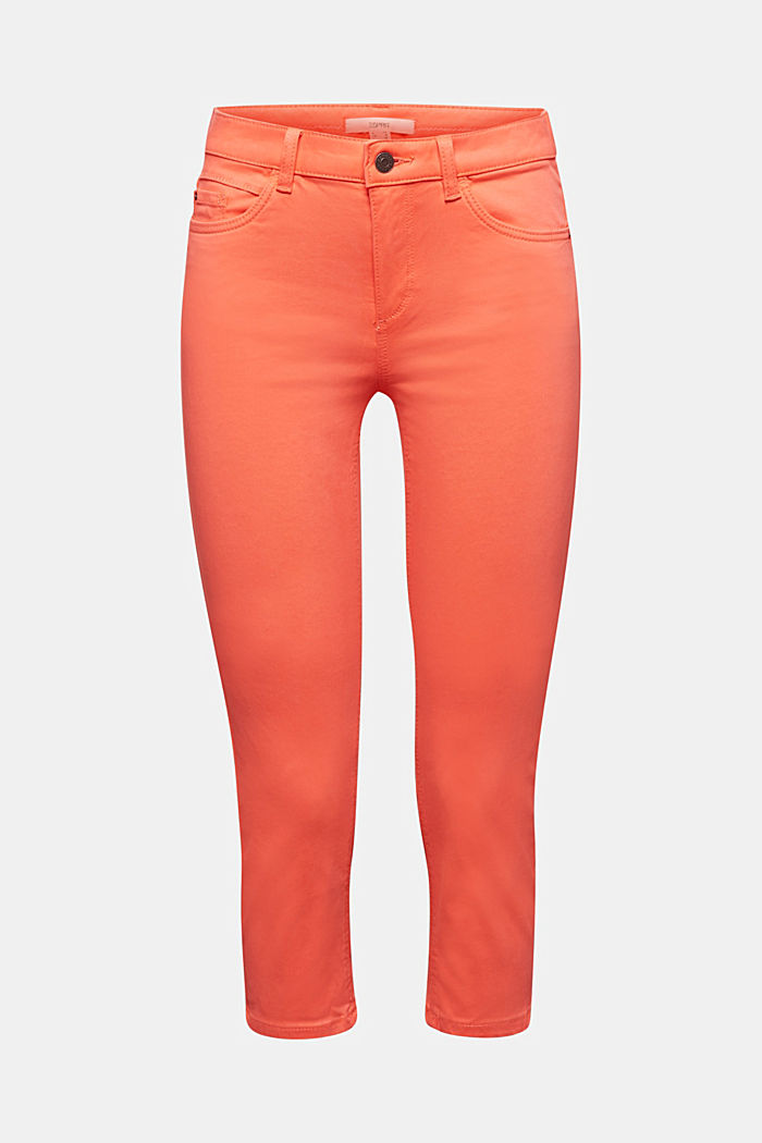 Soft Capri trousers with Lycra® xtra life™, CORAL, overview
