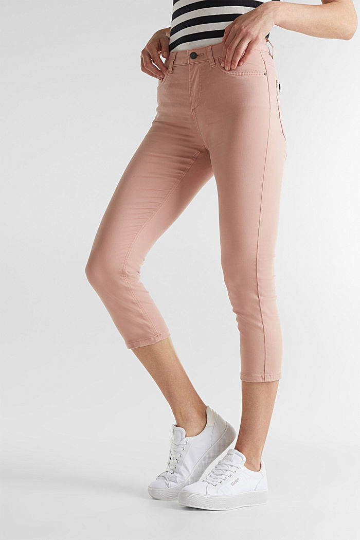 Soft Capri trousers with Lycra® xtra life™, OLD PINK, detail image number 6