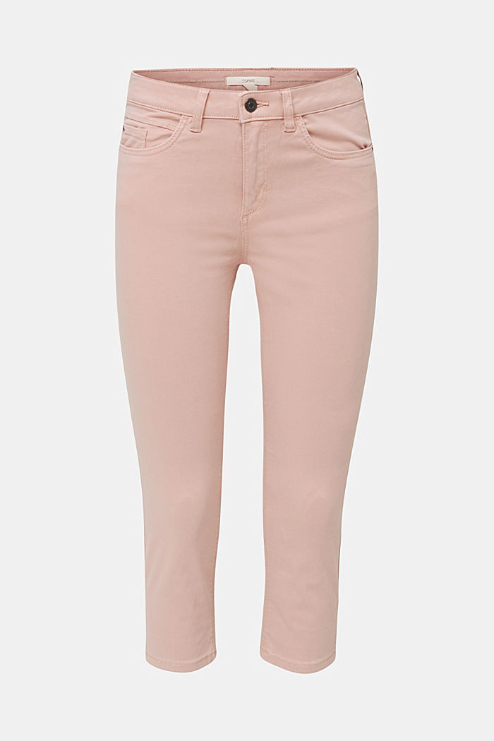 Soft Capri trousers with Lycra® xtra life™, OLD PINK, detail image number 7