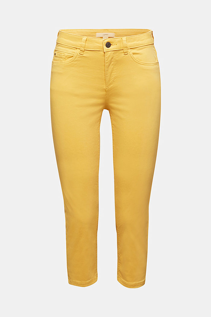Soft Capri trousers with Lycra® xtra life™, YELLOW, detail image number 6