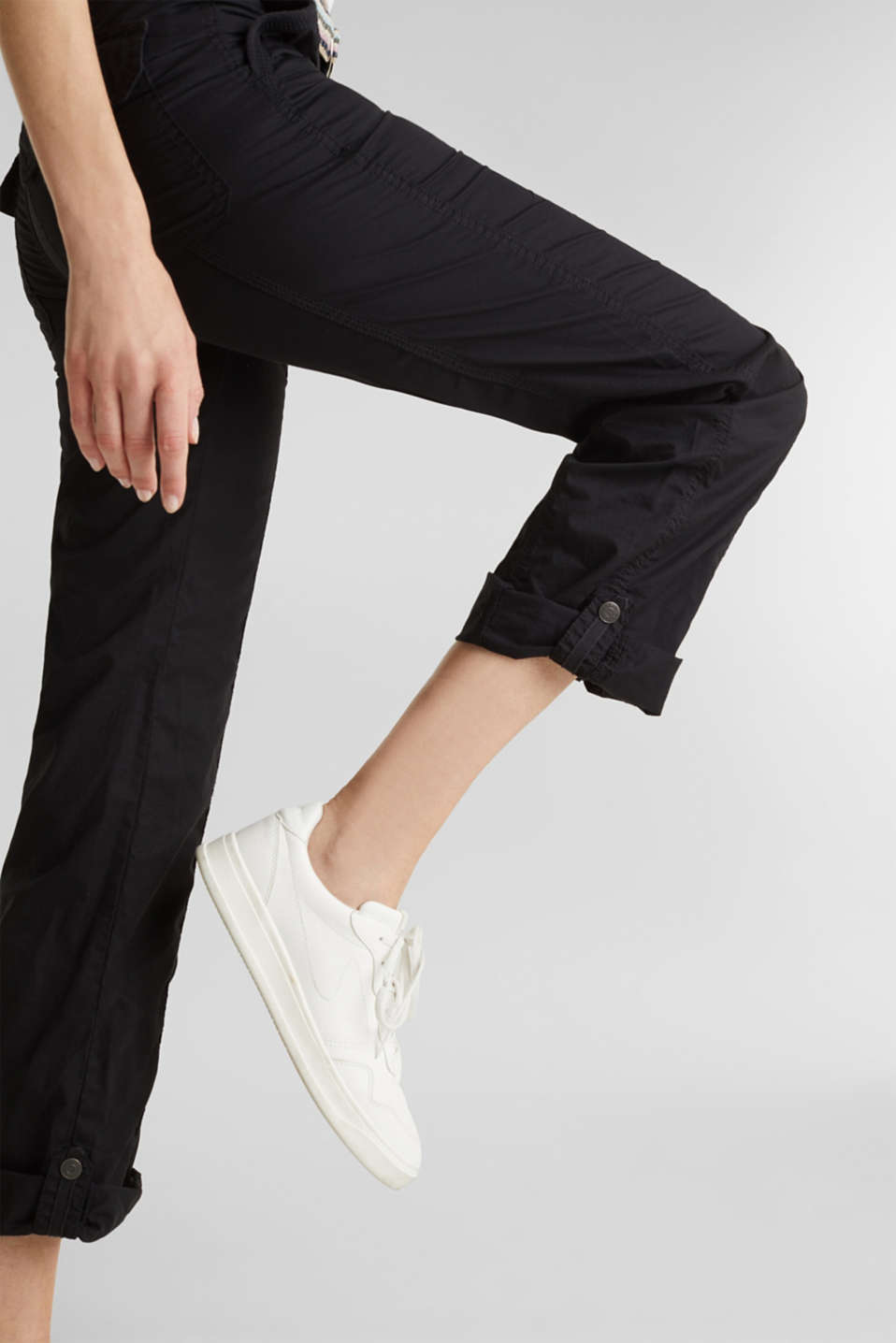 PLAY trousers with belt, 100% organic cotton, BLACK, detail image number 2