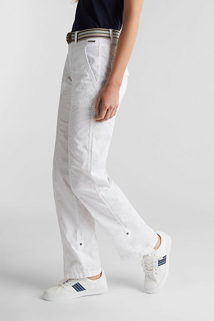 PLAY trousers with a belt, WHITE, detail image number 0