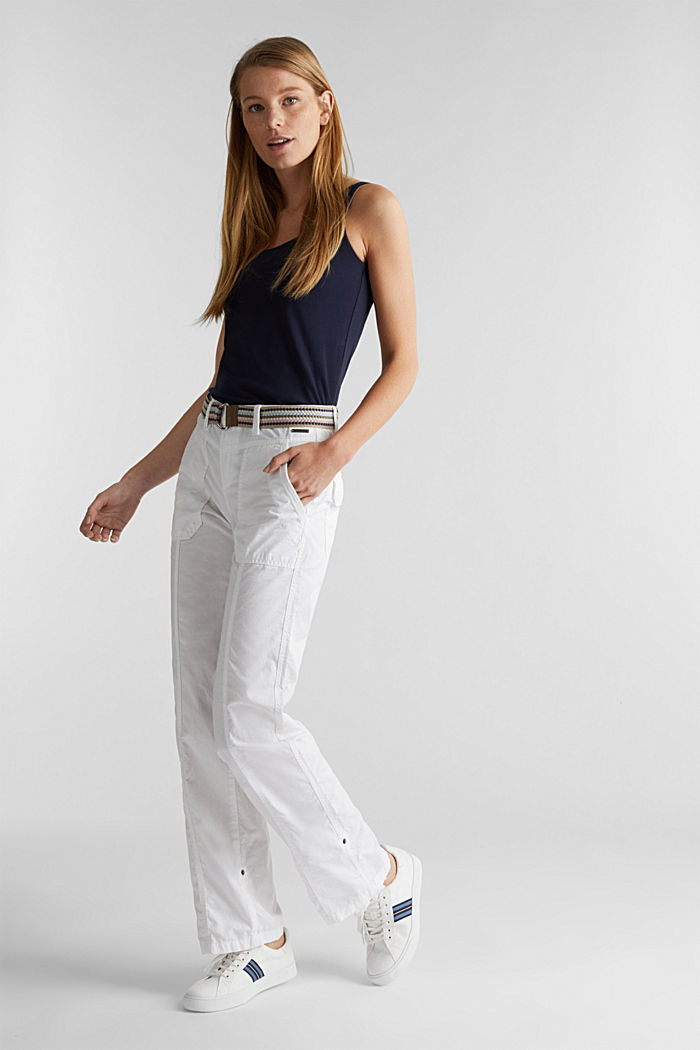 PLAY trousers with a belt, WHITE, detail image number 1