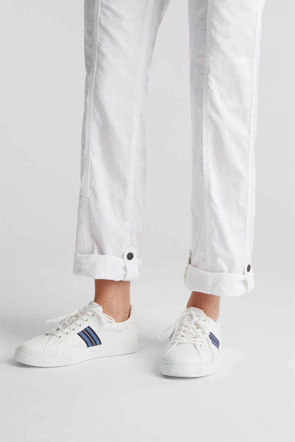 PLAY trousers with a belt, WHITE, detail image number 2