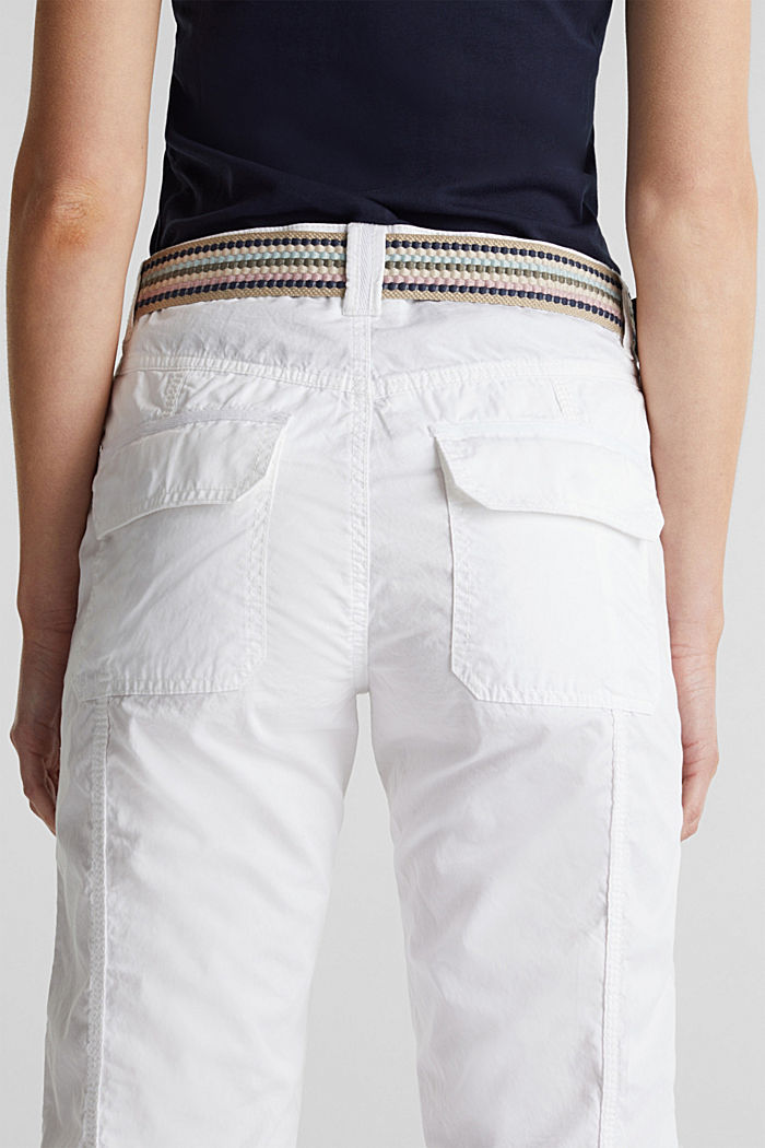 PLAY trousers with a belt, WHITE, detail image number 5