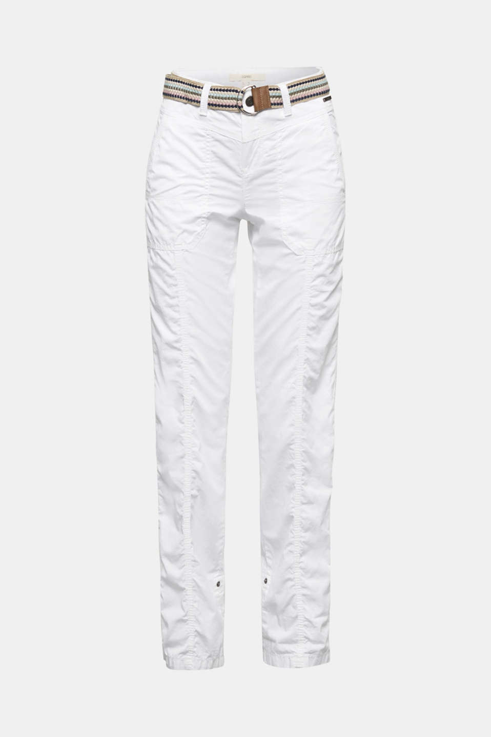 PLAY trousers with a belt, WHITE, detail image number 6