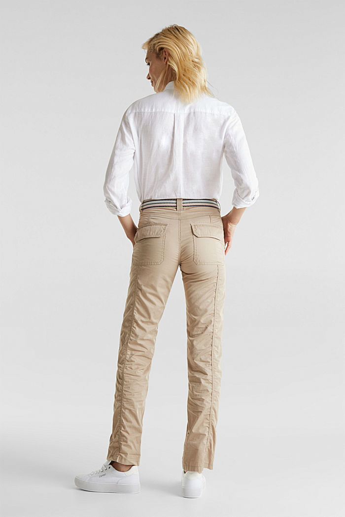 PLAY trousers with a belt, BEIGE, detail image number 3