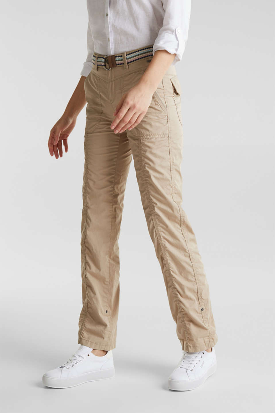 PLAY trousers with a belt, BEIGE, detail image number 6