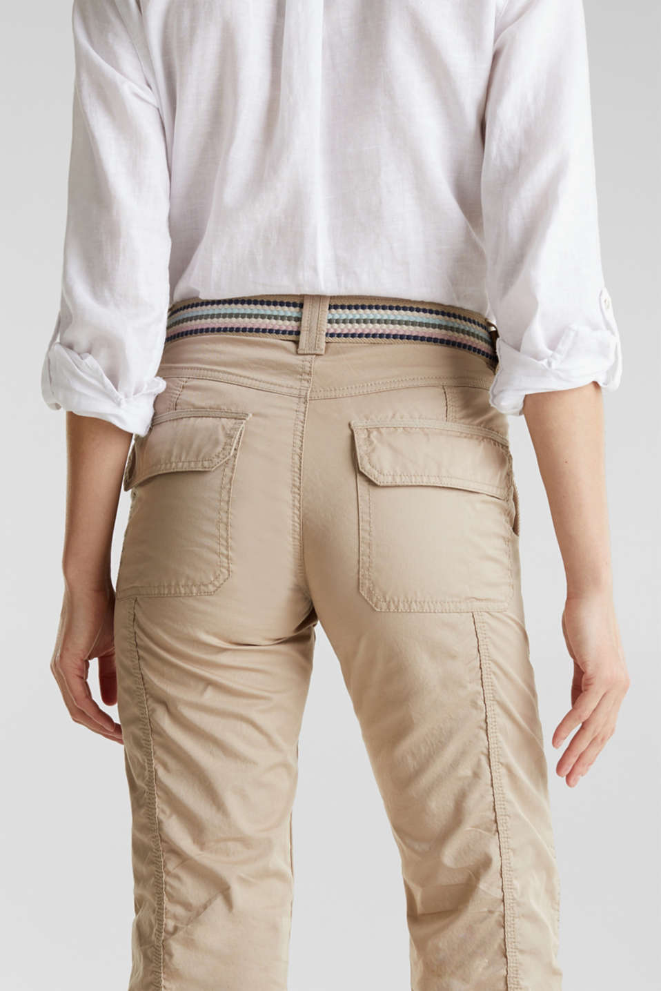 PLAY trousers with a belt, BEIGE, detail image number 7