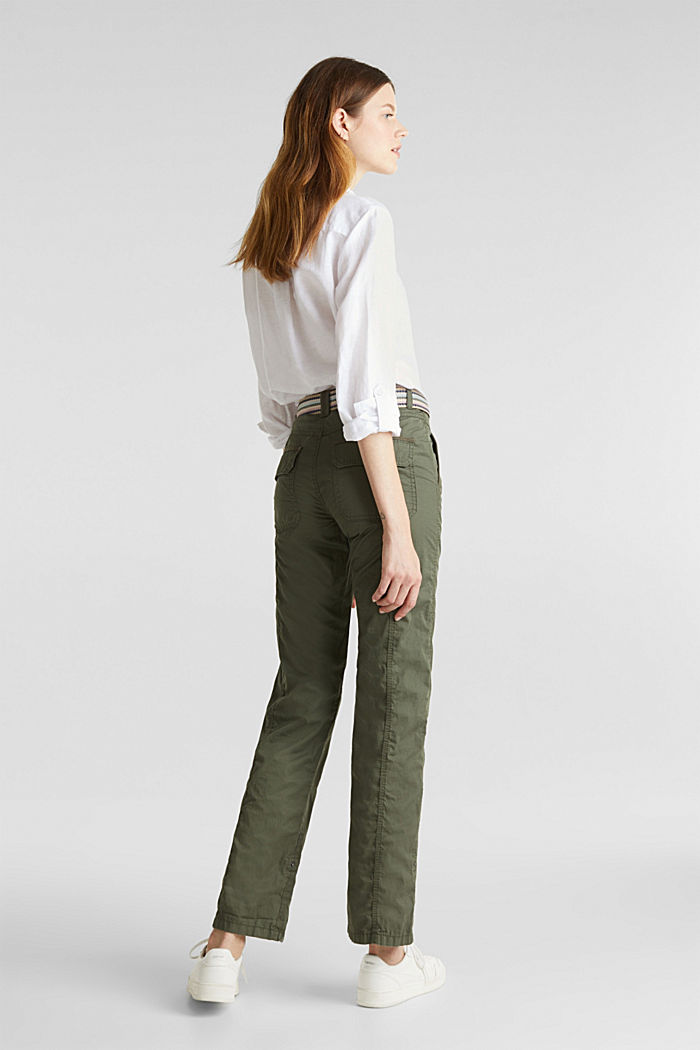 PLAY trousers with a belt, KHAKI GREEN, detail image number 3